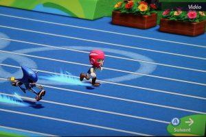 Mario et Sonic Rio 2016 100 m